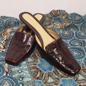 Liz Claiborne Flex Brown Leather Mule Size 9.5M